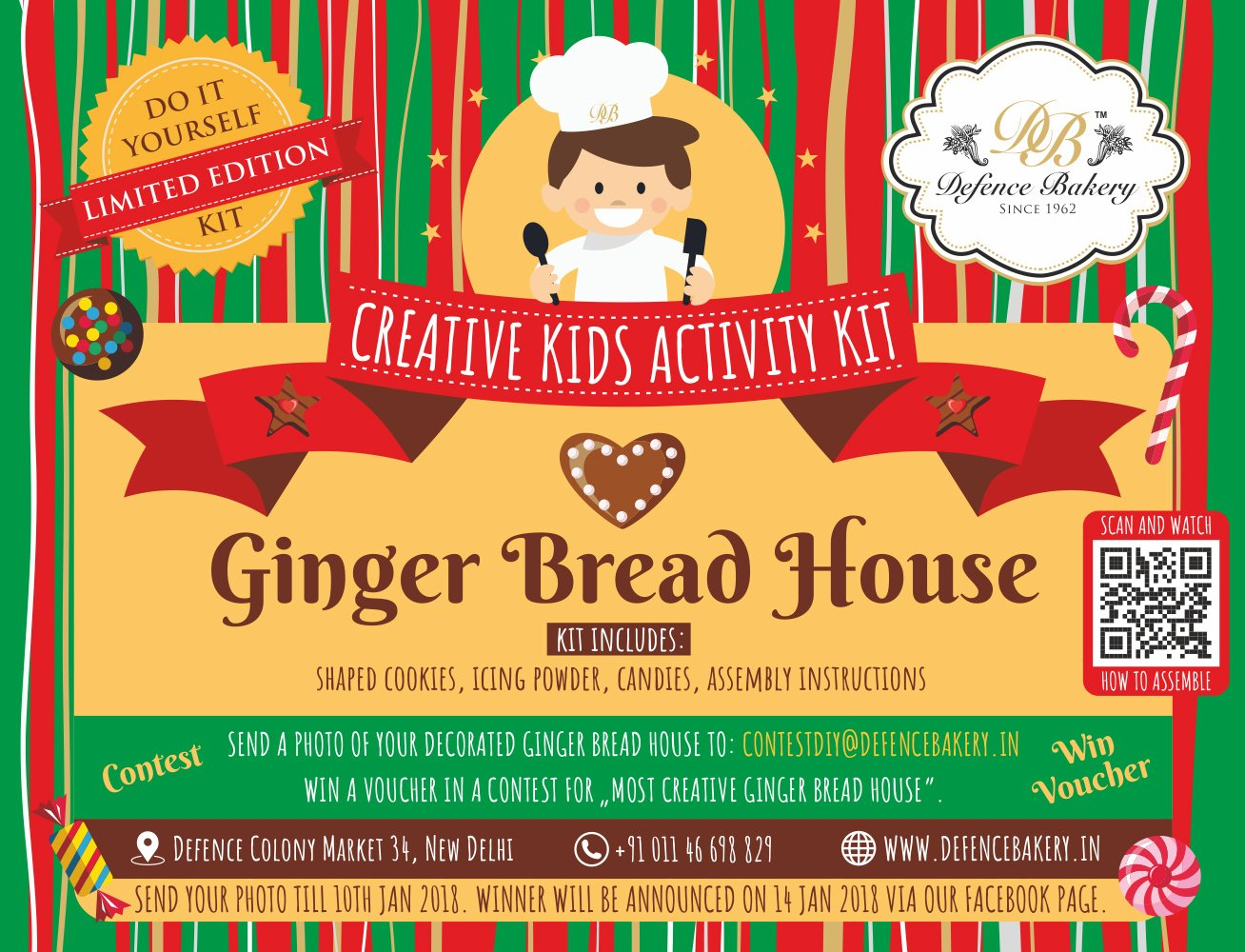 Gingerbread house diy kit by defence bakery since 1962 amazon gingerbread house diy kit by defence bakery since 1962 amazon grocery gourmet foods solutioingenieria Gallery