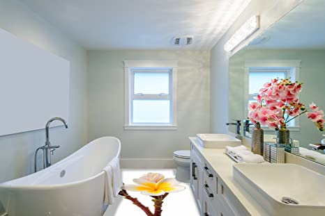 Revestimiento de Suelo 3D para Cuarto de baño Vinilo PVC ...
