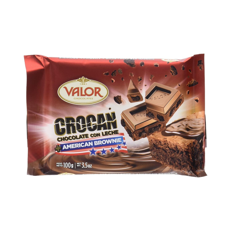 Valor Crocan Chocolate con Leche y American Brownie - 100 g: Amazon.es: Amazon Pantry