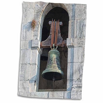 3dRose Portugal - Toalla de Bronce Igreja de Sao Sebastiao Da Pedreira, Color Blanco,