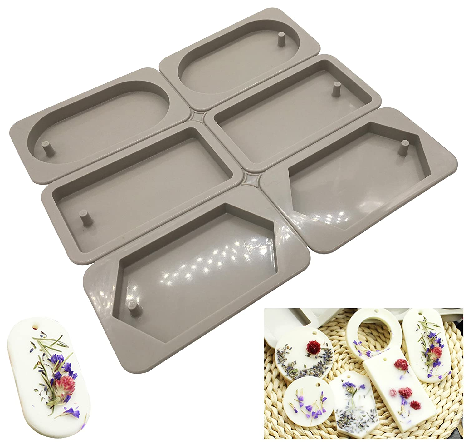 Silicone Wax Molds, KOOTIPS Resin Jewelry Molds Making with Hanging Hole for DIY Jewelry Craft Making Kootips-1-3057