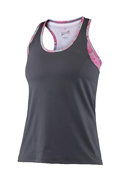 Head Vision W Brenda Top & Bra - Camiseta para Mujer, Color Gris, Talla