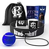 Revo Fight Boxing Reflex Ball   Premium Boxing Ball Headband with Punching Ball on String, Best Boxing Equipment for Training, Hand Eye Coordination and Fitness, Boxing Wraps Included