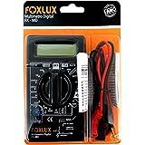 Multímetro Digital Foxlux – Com Ponta de Prova – ACV + DCV – Testes de Diodo e Transistor HFE – Teste de continuidade com bip