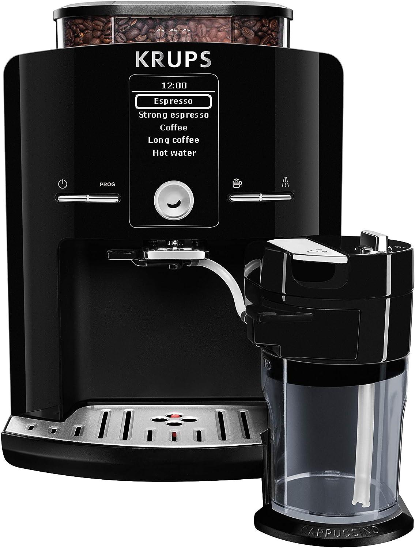 KRUPS EA8298 Kaffeevollautomat Latt'Espress One Touch Funktion (1,7 l, 15 bar, LC Display, Cappuccinatore) schwarz