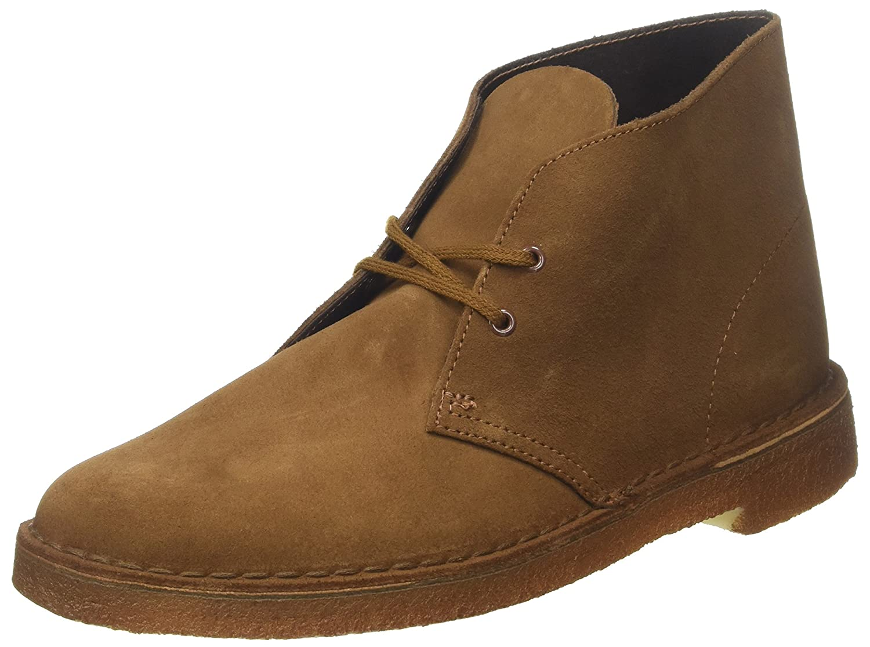 Clarks Desert Boot - Botines Chukka para hombre, Braun (Cola Suede), 47