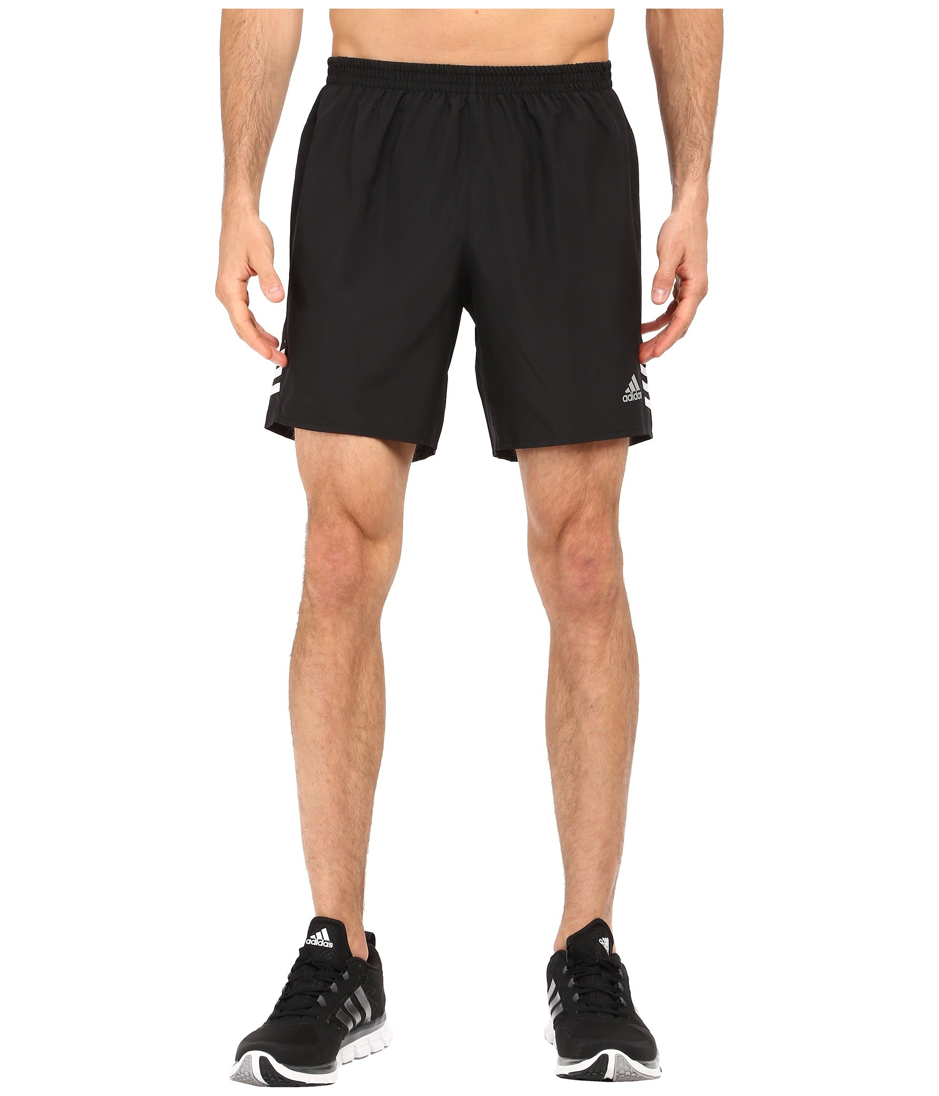 adidas Performance Men's Response Shorts, X-Large/7'', Black/White