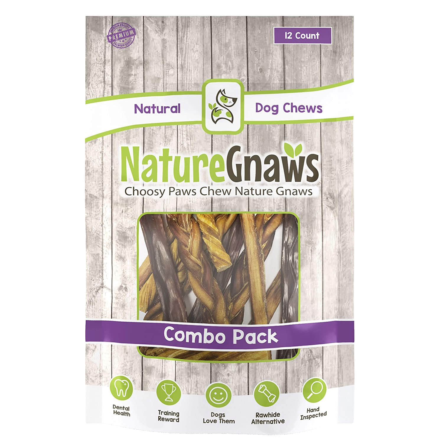 Nature Gnaws Variety Pack – 100 Natural Dog Chew Treats