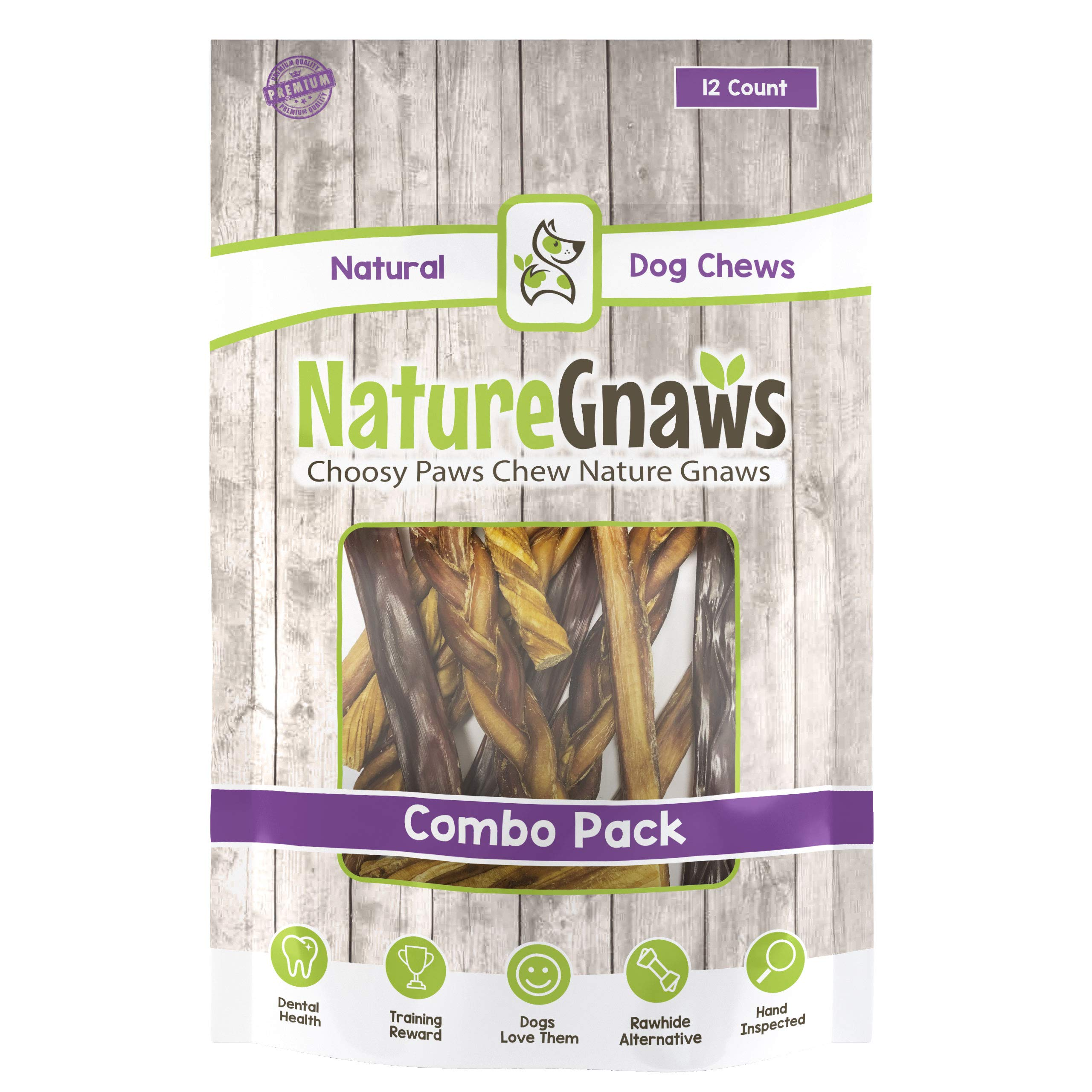 Nature Gnaws Large Variety Pack - 100% Natural Dog Chew Treats by Nature Gnaws