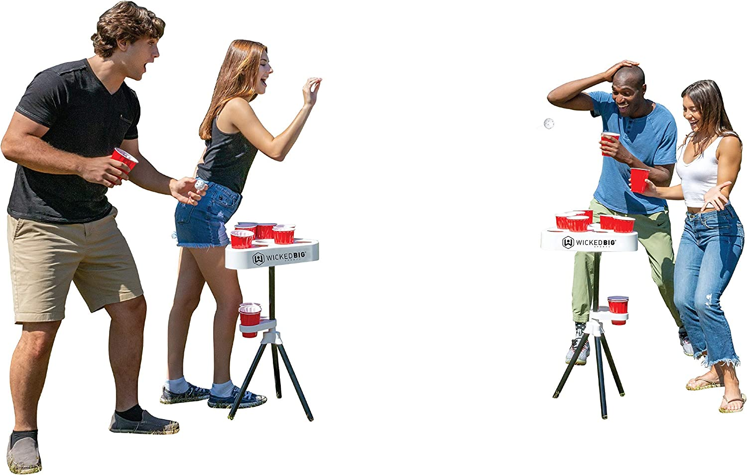Versapong Portable Beer Pong Table / Tailgate Game with Backpack Carry Case and Balls