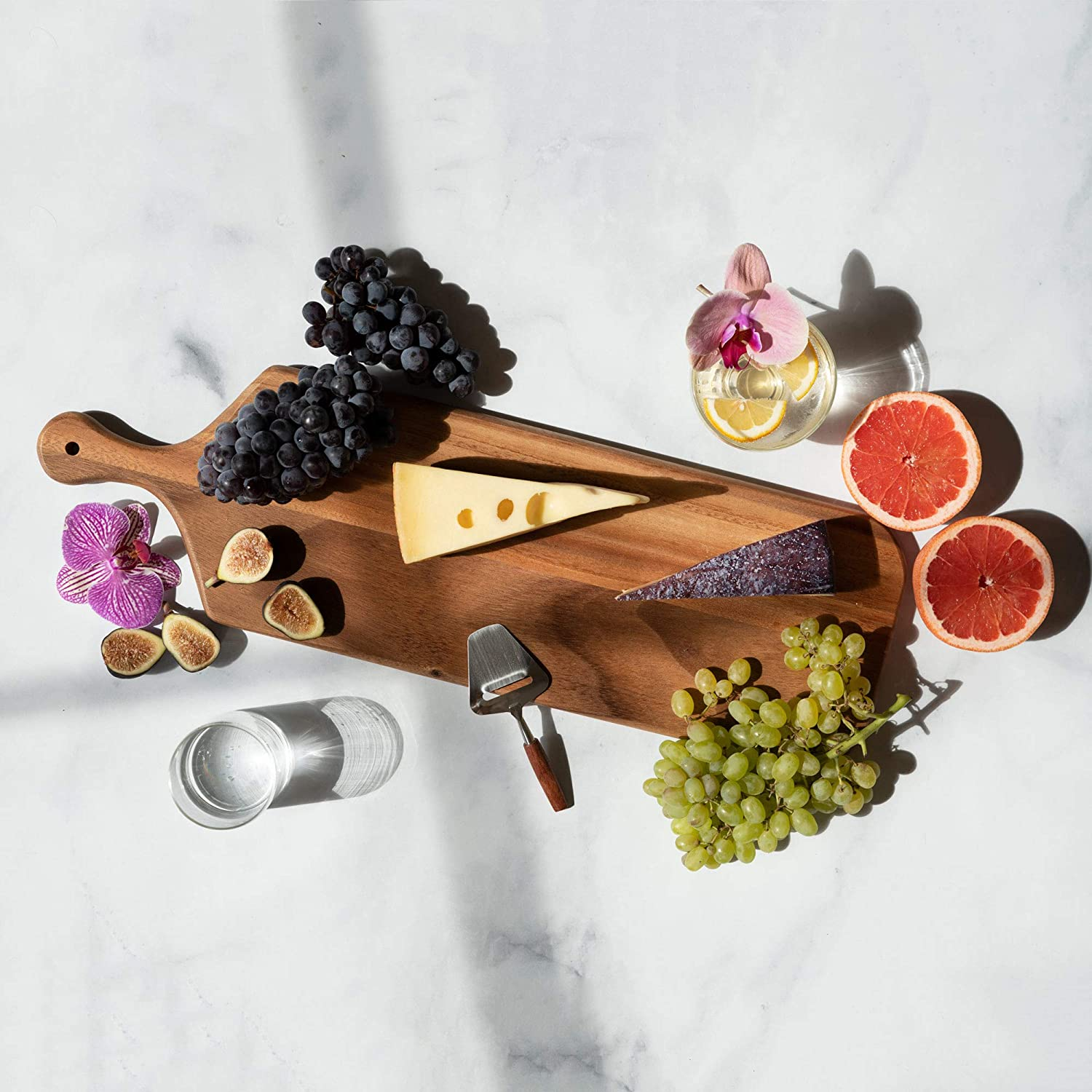 Amazon Com Villa Acacia Long Wooden Cheese Board 23 X 7 Inch Serving Tray And Charcuterie Board Platters