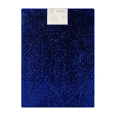 Verxii Home Memory Foam Luxury | No-Slip Soft Shaggy Bath Floor Mat Set | Multiple Choice (1-PC Small, Bright Blue))