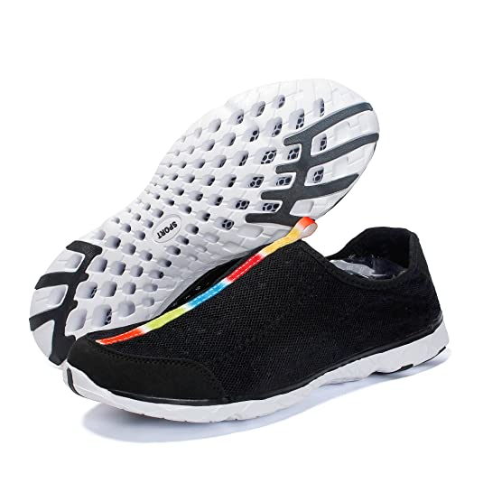 959044dac5a8 Voovix Men s Quick Drying Aqua Water Shoes Breathable Mesh Sneakers Outdoor  Trainers  Amazon.co.uk  Shoes   Bags