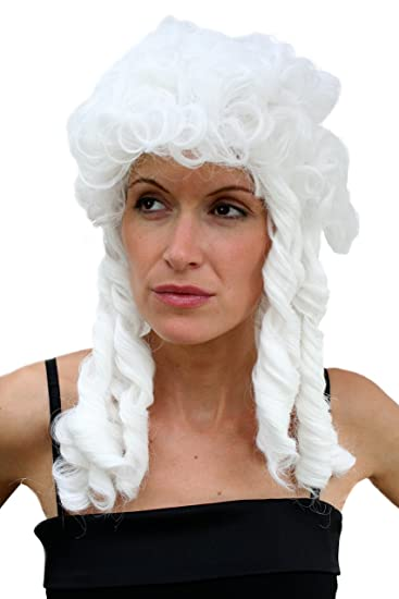 Wig Me Up Lm 160 P60 Fasching Perucke Barock Baroque Weiss