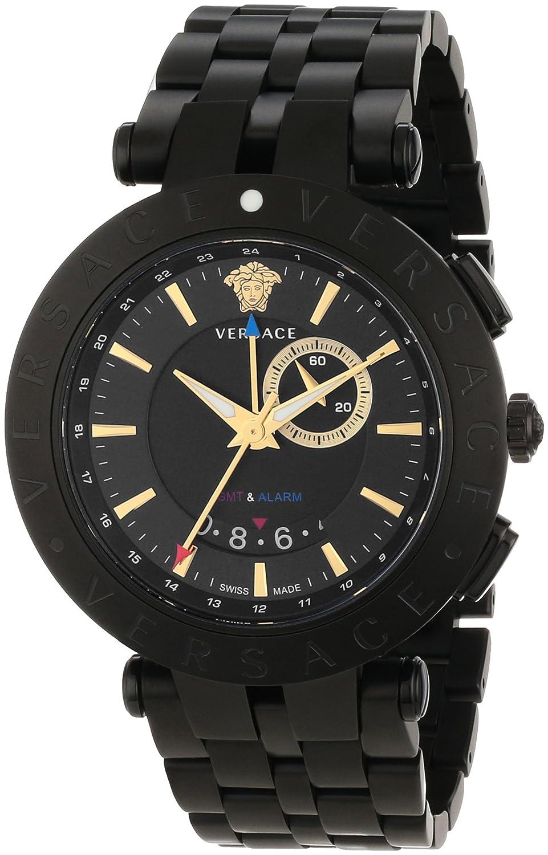 amazon com versace men s 29g60d009 s060 v race black stainless amazon com versace men s 29g60d009 s060 v race black stainless steel watch watches