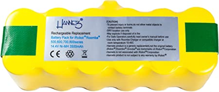 Batería Hannets® compatible con iRobot Roomba 870 I Batería i ...