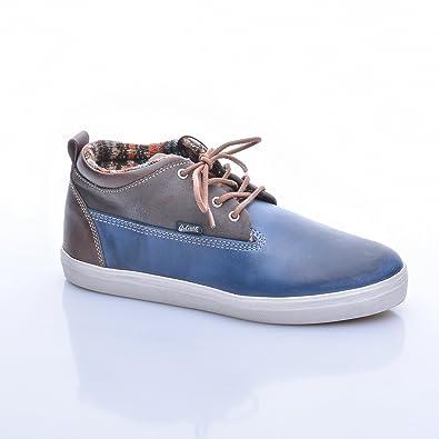Goliath Herren Sneaker High Leder Logger Blau Braun Gr??e 40 1eSLpRvX