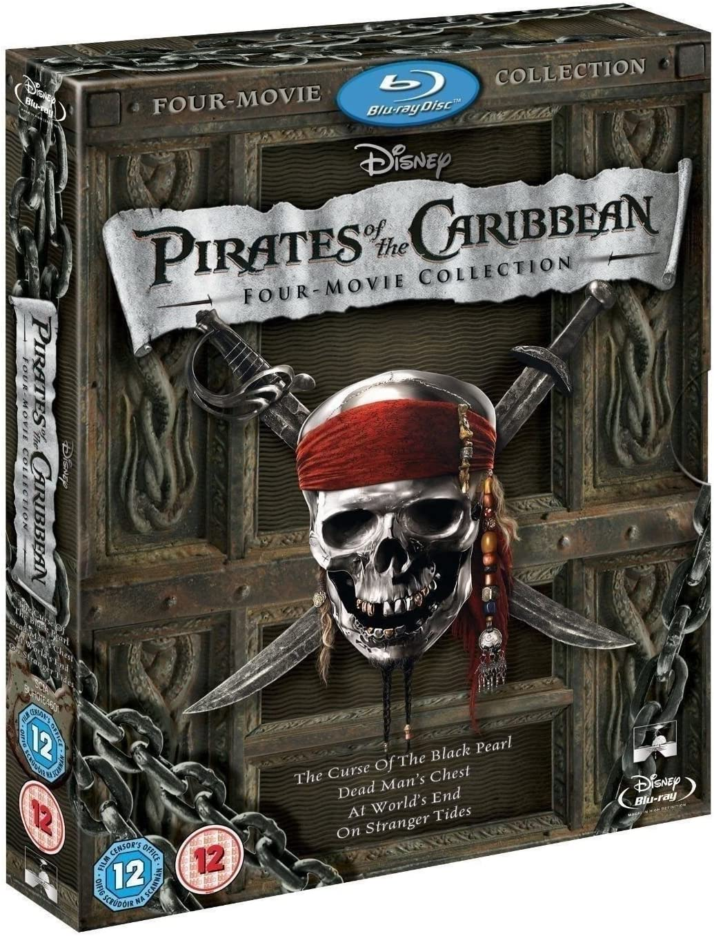 Amazoncom Pirates Of The Caribbean 1 4 Movie Collection Blu Ray