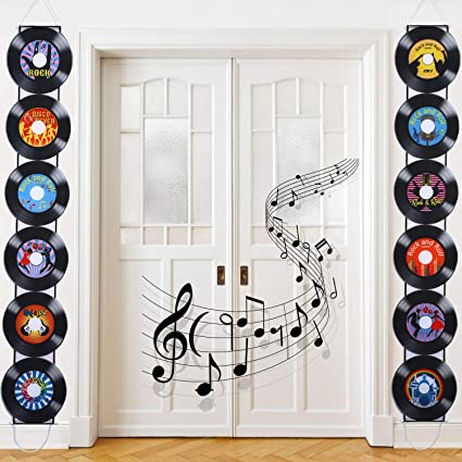 pop culture pattern set 80s retro wall decals rock and roll wall decor FREE SHIPPING