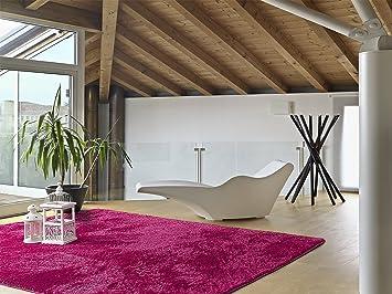 tappeto moderno soggiorno sensity liso 20 fucsia 60 x120 cm ... - Soggiorno Fucsia 2