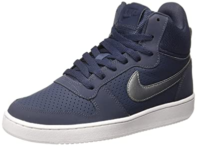 premium selection a0b60 7ae0c Nike Men's Court Borough MID Thunder Blue/MTL Running Shoes-8 UK/India