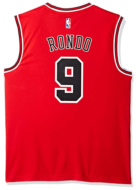 super popular 503e4 336e4 NBA Chicago Bulls Rajon Rondo #9 Men's Road Replica Jersey, XX-Large, Red