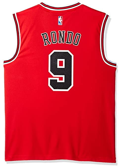 Image Unavailable. Image not available for. Color  NBA Chicago Bulls Rajon  Rondo  9 Men s Road Replica ... 1b9d5ef91