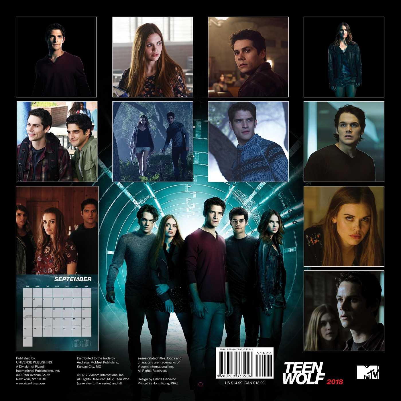 Teen Wolf 2018 Wall Calendar: MTV/Viacom: 0676728033509: Amazon