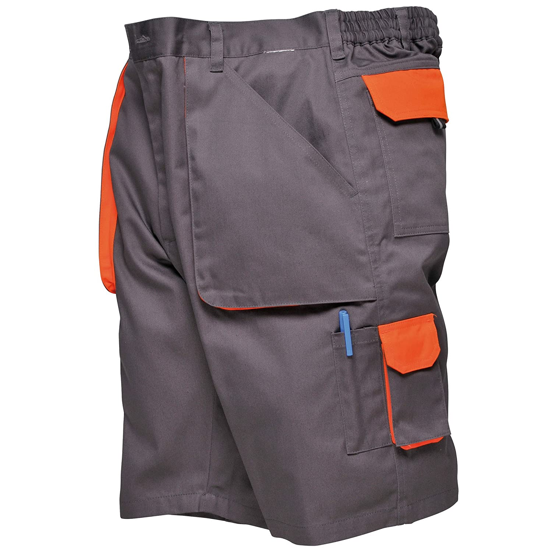 Portwest Pantalones cortos de trabajo Modelo Contrast Hombre Caballero Trabajo//Verano//Calor