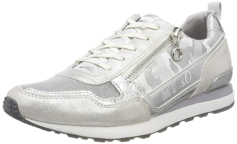s.Oliver 23642, Zapatillas para Mujer 42 EU|Blanco (White/Silver)