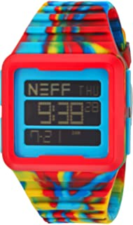 Neff Mens NF0234BLCK Odyssey Digital Display Chinese Automatic Black Watch