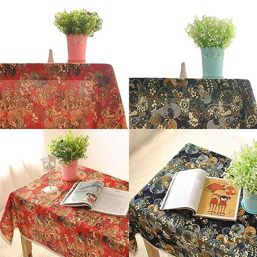 hjuns - Juego de lino y algodón estilo japonés funda para mesa ...