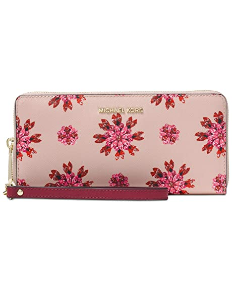 7331dbb79a4765 MICHAEL Michael Kors Jet Set Floral Travel Wallet - Soft Pink/Ultra Pink:  Amazon.in: Shoes & Handbags