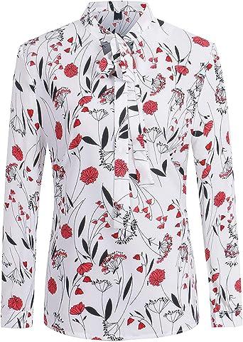 Camisa Mujer Elegante Moda Informales Fiesta Primavera Blusas ...