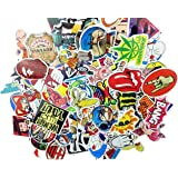 (Pack of 200) Random Music Film Vinyl Skateboard Guitar Travel Case Sticker Lot Pack Decals