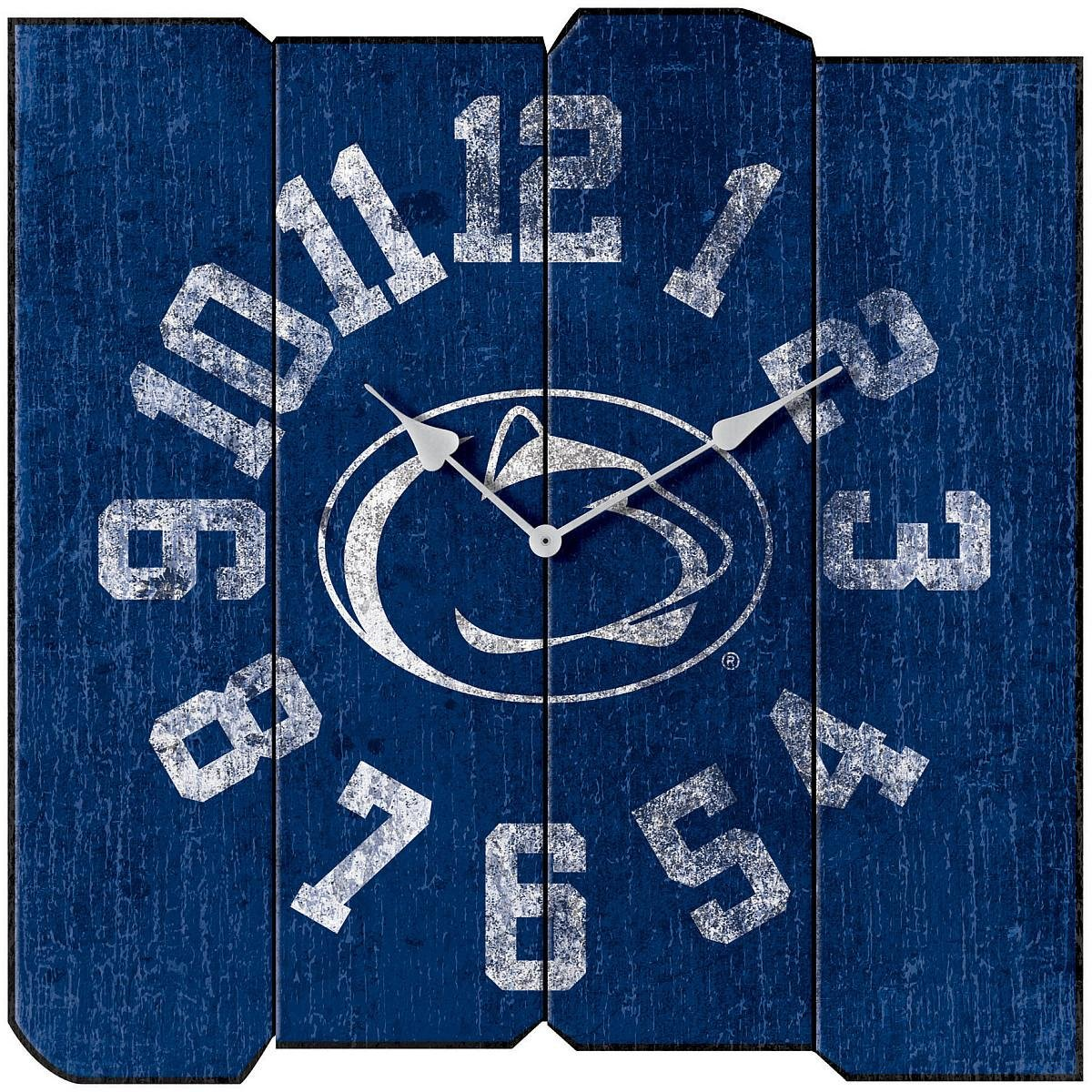 Imperial Officially Licensed NCAA Merchandise: Vintage Square Clock, Penn State Nittany Lions by Imperial