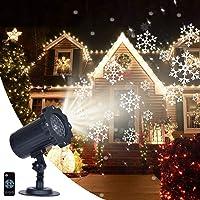 Soontrans Proyector Navidad LED Copos de Nieve Giratorio