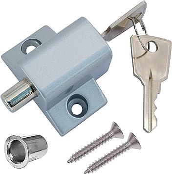 Home secure - Cerrojo de seguridad para puertas correderas (aluminio): Amazon.es: Bricolaje y herramientas