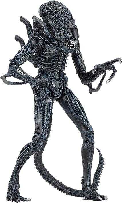 """1986 NECA Aliens 7/"""" Action Figures Ultimate Aliens Blue Warrior"""