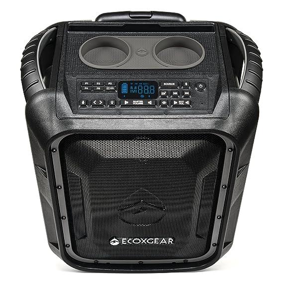 Ecoxgear Eco Boulder+ Gdi Exbld810 Rugged Waterproof Floating Portable Bluetooth Wireless 100 Watt Speaker And Pa System (Gray) by Ecoxgear