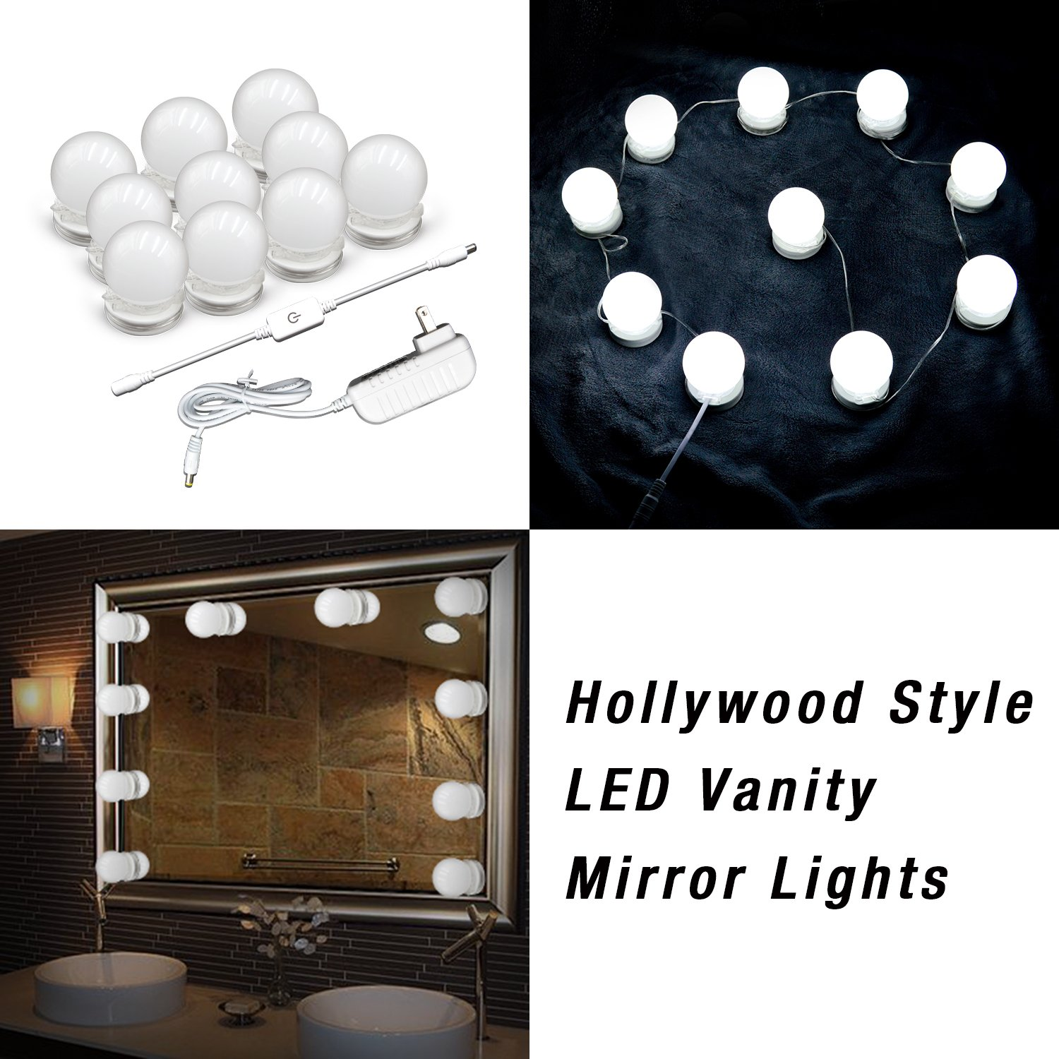 products mirror vanity dimmer s lights white led shape warm kit strip image flexible