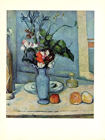 Amazon 1963 Vintage Cezanne The Blue Vase Gorgeous Color