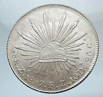 1897 MX 1897 Zs FZ MEXICO BIG AR 8 Reales Genuine Antique 8