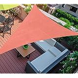 SHADE SPRING 16' x16' x16' Terra Triangle Sun Shade Sail 185GSM UV Block Canopy Awning for Patio Garden Yard
