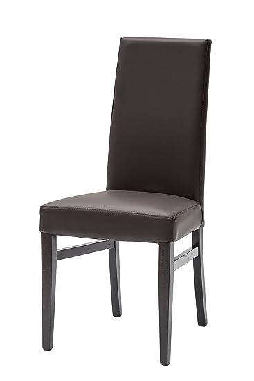 White Loft Möbel Für Alle Lf249 Set Von 2 Stühle Zeitgenössisch 46x49x99 Cm  Braun