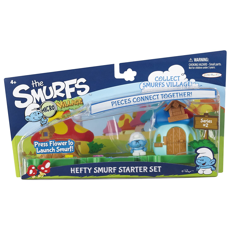 SMURFS 2 Micro Figure Starter Pack Hefty Smurf House Jakks 55843