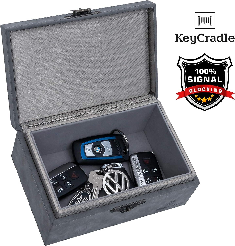 MLS Faraday Box and Faraday Bag for Car Keys 18 x 13 x 10,5 cm Extra Large Signal Blocking Box for Car Keys Faraday Cage Plus Faraday Pouch