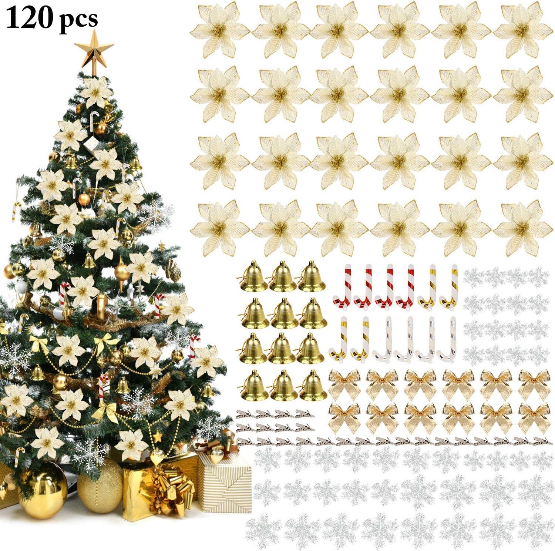 4 GHIACCIOLI IN PVC GLITTERATI Stalattiti Addobbi Natalizi Decorazioni Natale