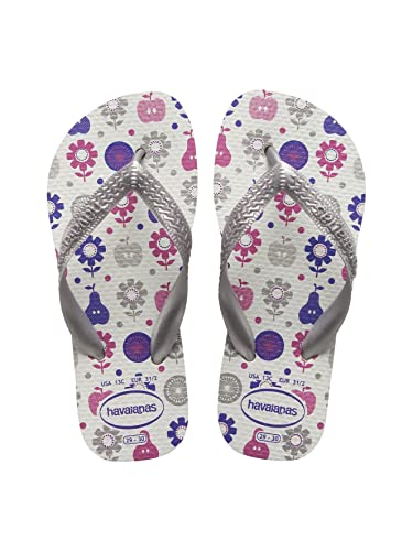 2229e4dcb HAVAIANAS Childrens kids Girls Flores White Floral Flip Flops 31 32  Amazon. co.uk  Shoes   Bags