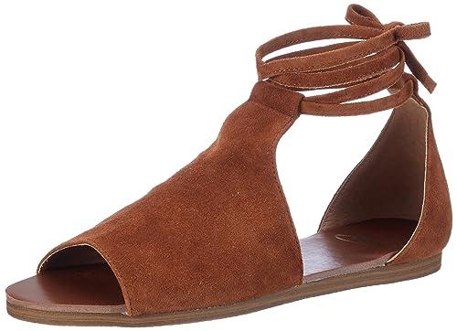 c4728f5978b3 SPM Women s Elaine Sandal Open Toe Sandals Brown Size  3.5